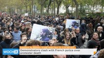 Demonstrators Clash With French Police Over Protester Death