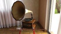 Gramophone Maestrophone  à moteur Stirling (air chaud) fabriqué par E. Paillard & Cie à Sainte-Croix (Suisse) entre 1910 et 1914