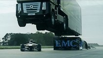 Epic World-Record Truck Jump by EMC and Lotus F1 Team