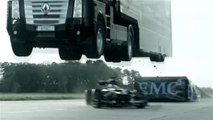 Lotus F1 team sets world record for truck jump