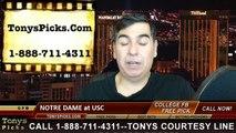 USC Trojans vs. Notre Dame Fighting Irish Free Pick Prediction NCAA College Football Odds Preview 11-29-2014