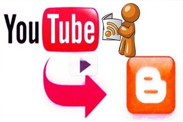 Comparte el feed de tu canal de youtube en blogger