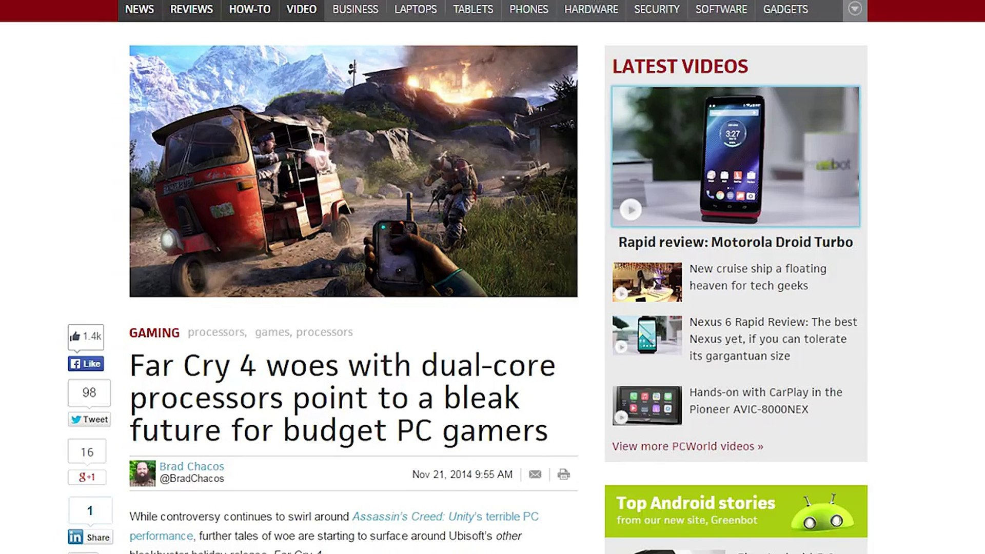 Far Cry 4 doesn't like dual-core CPUs, Amazon's free streaming, Blood Sport takes gamers&#