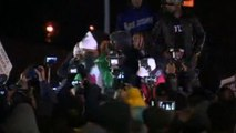 Protesters agitated outside Ferguson police station