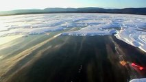 Frozen Lake - Baikal (undefinable blue colored ice)