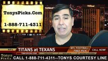 Houston Texans vs. Tennessee Titans Free Pick Prediction NFL Pro Football Odds Preview 11-30-2014