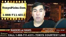 St Louis Rams vs. Oakland Raiders Free Pick Prediction NFL Pro Football Odds Preview 11-30-2014
