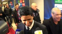 Réaction de Nasser Al-Khelaïfi en zone mixte après PSG-Ajax (3-1)