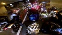 Motards VS police : Course-poursuite de dingue entre une nuée de motards et de voitures et hélico de la police