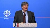 Point de presse de Stéphane Le Foll, porte-parole du Gouvernement, le 26 novembre 2014