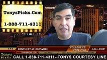 Louisville Cardinals vs. Kentucky Wildcats Free Pick Prediction NCAA College Football Odds Preview 11-29-2014