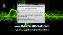 HowTo Jailbreak iOS 8.1.1 iPhone iPad iPod Final Releases Evasion7,iPod Touch ,iPad,Apple Tv