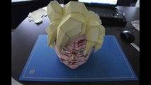 Création d'un Sangoku en papier en Stop Motion