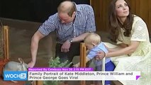 Family Portrait of Kate Middleton, Prince William and Prince George Goes Viral