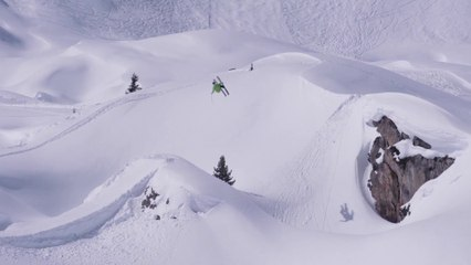 Backcountry freeski in La Plagne 2014
