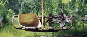 Survol de Tchernobyl et Pripiat abandonnée après la catastrophe nucléaire