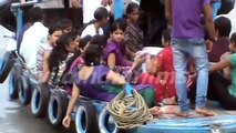 Enjoy girls and boys Travelling in Hooghly River , watching the people at Belur Math