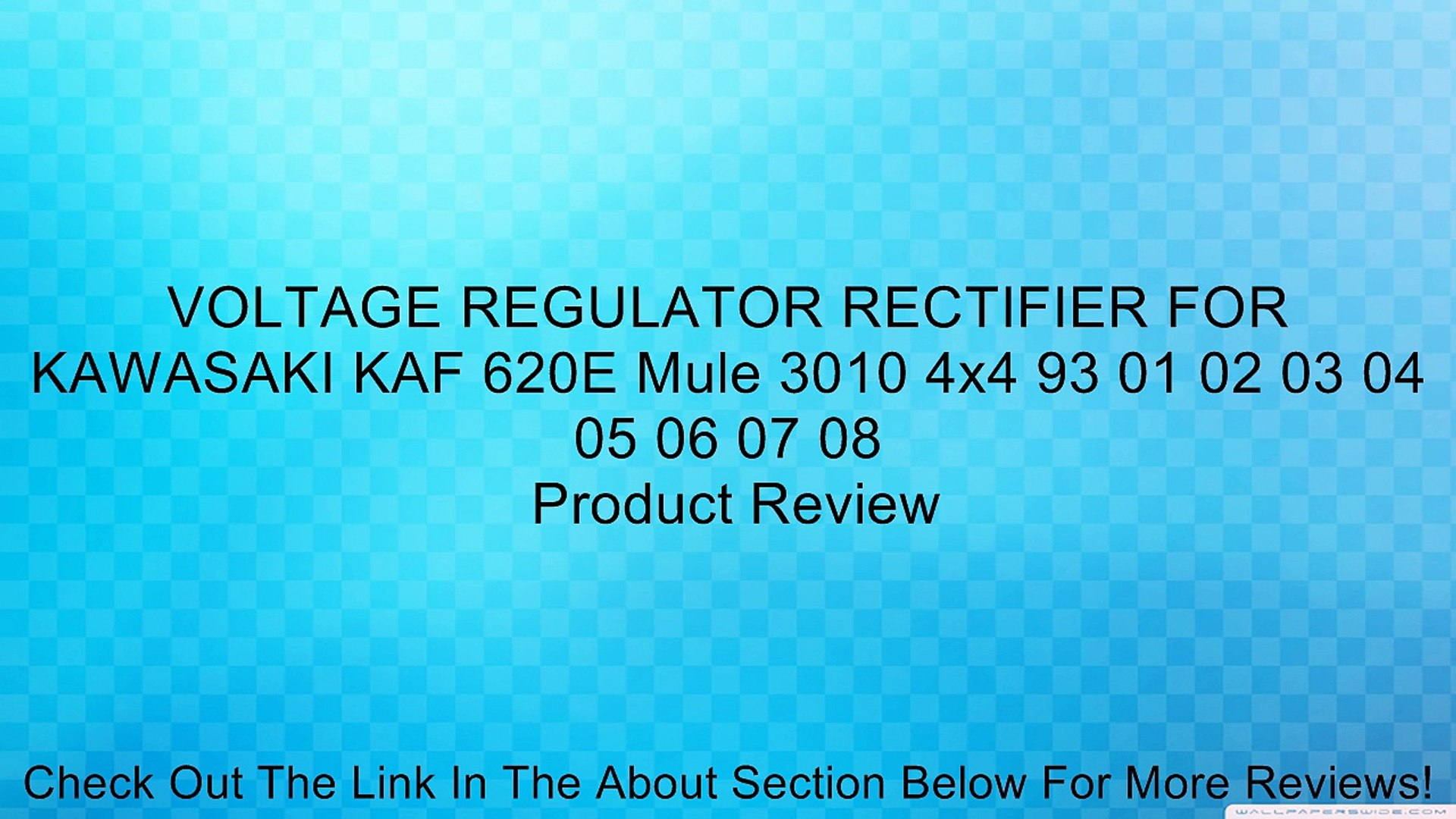 Voltage Regulator Rectifier for KAWASAKI KAF 620G Mule 3000 2001 02 03 04 05 06 07 08