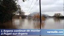 L'Argens continue de monter à Puget-sur-Argens