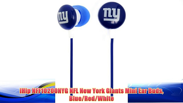 Best buy iHip NFF10200NYG NFL New York Giants Mini Ear Buds Blue/Red/White