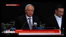 Le Premier ministre malaisien annonce que le Boeing 777 est tombé dans l'océan Indien