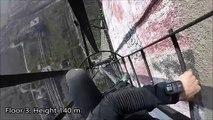 Ce mec joue les équilibristes sur une cheminée de 280 mètres de hauteur !