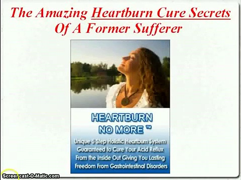 Heartburn No More-Natural remedy for heartburn