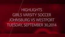 Girls Soccer - Johnsburg Jaguars vs Westport Eagles 09-30-2014 - Highlights