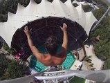 25 Metre Yükseklikten 100 km Hızla Havuza Atlamak