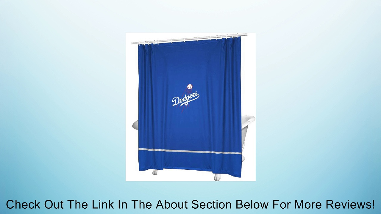 MLB Los Angeles Dodgers Baseball Accent Shower Curtain Review