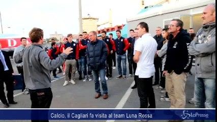 Calcio, il Cagliari fa visita al team Luna Rossa