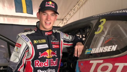 World RX - On board lap with Timmy Hansen inside the peugeot 208 WRX