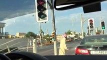 Dubai Arab argument fight car road rage motor festival super car parade Ferrari Lamborghini