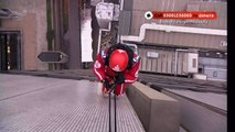 Phillip Schofield abseils down the ITV tower