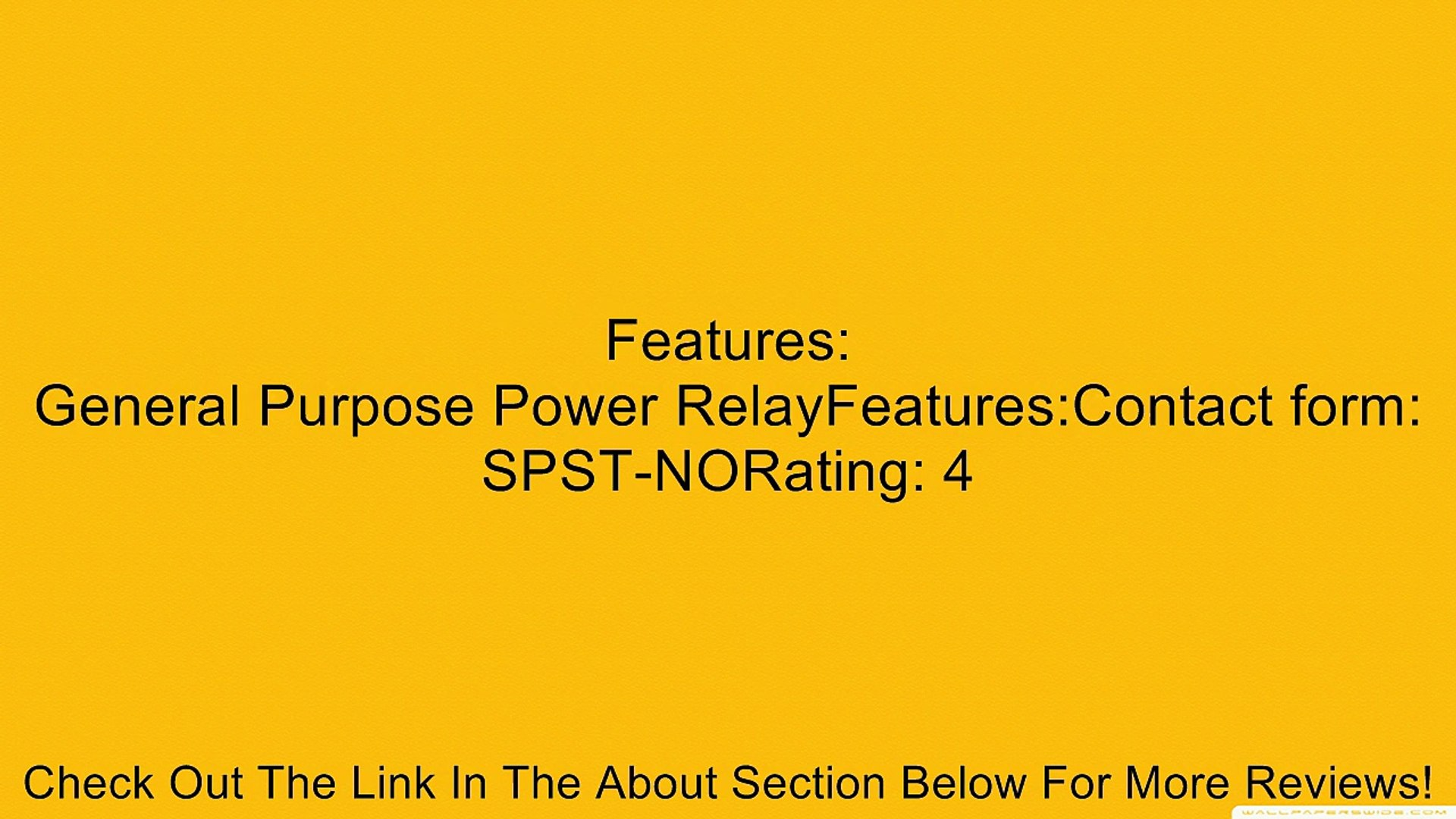 RELAY,POWER,T9AP1D52-48-3,SINGLE POLE SINGLE THROW (SPST)-NO,30A,48VDC,PANEL MOUNT Review