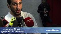 Mermoz et Orioli  après RCT-Clermont
