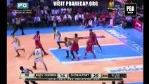 Mark Caguioa post up fade away shot against cabagnot