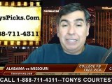Missouri Tigers vs. Alabama Crimson Tide Free Pick Prediction NCAA College Football SEC Championship Game Odds Preview 12-6-2014