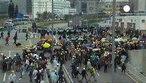 Βίαιη επέμβαση της αστυνομίας εναντίον διαδηλωτών στο Χονγκ Κονγκ