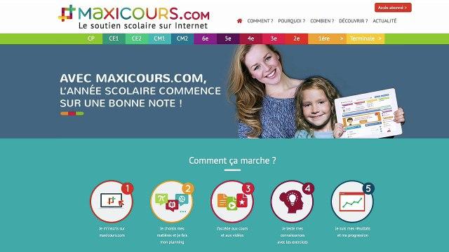 Maxicours, le site de soutien scolaire d'Educlever