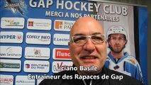 Hockey sur glace : Luciano Basile avant Rouen-Gap (demi-finale de la Coupe de la Ligue)
