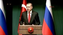 Cumhurbaşkanı Erdoğan Rusya Devlet Başkanı Putin ile Ortak Basın Toplantısı Düzenledi 2