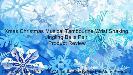 Xmas Christmas Musical Tambourine Wrist Shaking Jingling Bells Pair