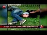 Vecinos de Macul capturaron a ladrones de estudiantes que asaltaban en su villa - CHV Noticias