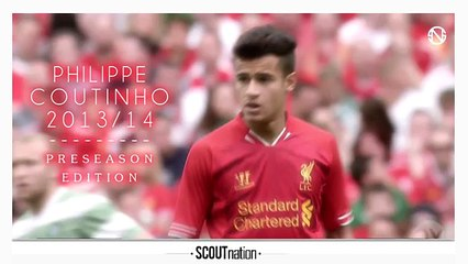 PHILIPPE COUTINHO | Goals, Skills, Assists | Liverpool | 2013/2014 Preseason (HD)
