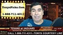 Jacksonville Jaguars vs. Houston Texans Free Pick Prediction NFL Pro Football Odds Preview 12-7-2014