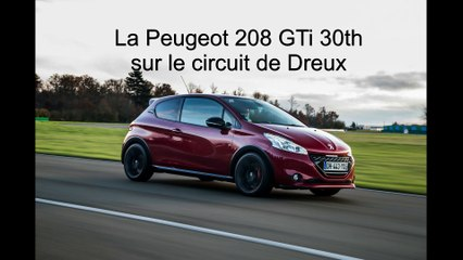 vid o essai peugeot 208 gti 30th 2014 circuit de dreux l 39 argus. Black Bedroom Furniture Sets. Home Design Ideas