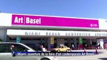 La foire d'art contemporain Art Basel ouvre ses portes à Miami