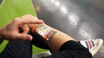 The Cicret Bracelet Like a Tablet but on your body skin.....How Amazing