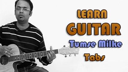 How To Play - Tumse Milke - Guitar Tabs - Parinda - Suresh Wadkar, R. D. Burman